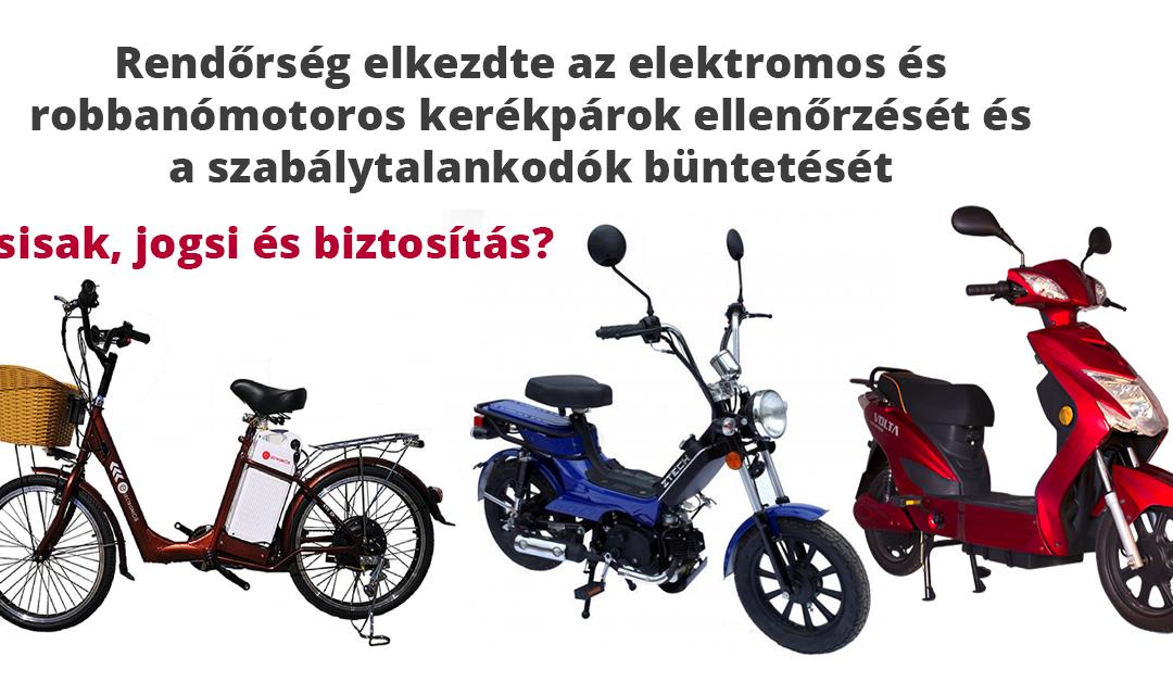 Jogosítvány kell az elektromos és robbanómotoros kerékpárokra